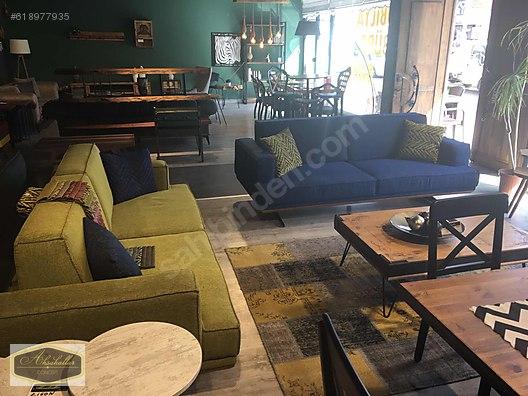 Living Room Furniture Ahsap Kasa Metal Ayak Koltuk Takimi