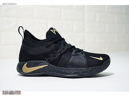 320b6107602f nike pg 2 paul george black gold splash ink basketball aj240 071